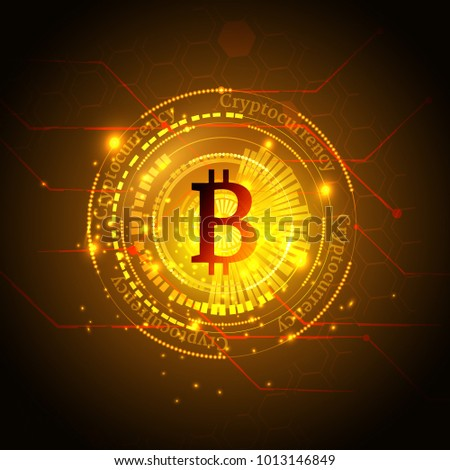 Bitcoin Symbol Price Chart Cryptocurrency Concept Stock Vector