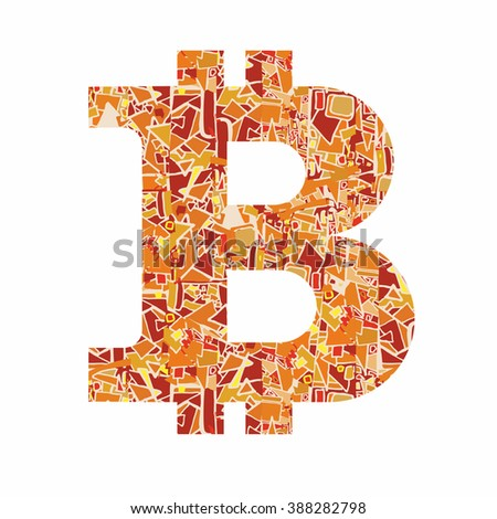 Bitcoin Decorative Vector Symbol Stock Vector 349413212 ...
