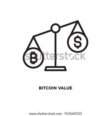 Bitcoin Value Vector Icon Usd Symbol Stock Vector 763660333