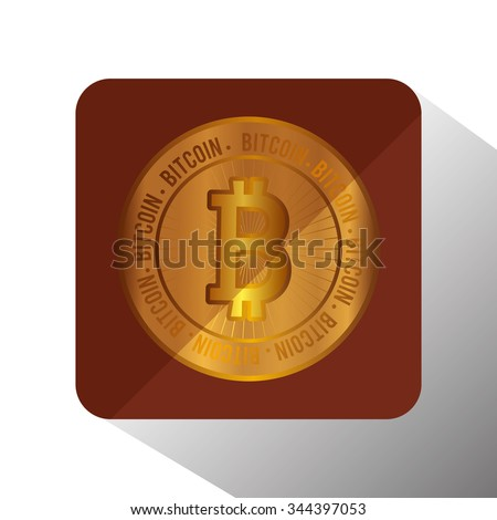 Bitcoin virtual money graphic icons design, vector illustration eps10