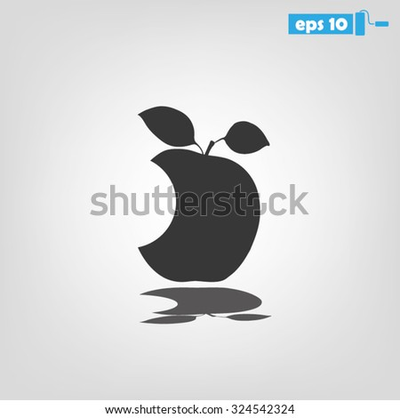 bite apple - stock vector
