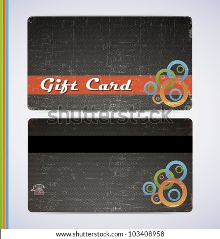 Blac Gift Card - stock vector