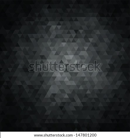 Black abstract background - stock vector