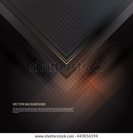 Black abstract background. Bright colorful flying arrows on a fantastic design background. Vector illustration for your business presentations. EPS10. - stock vector