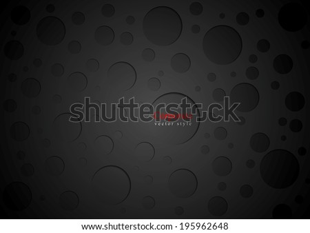 Black abstract circles background. Vector illustration - stock vector