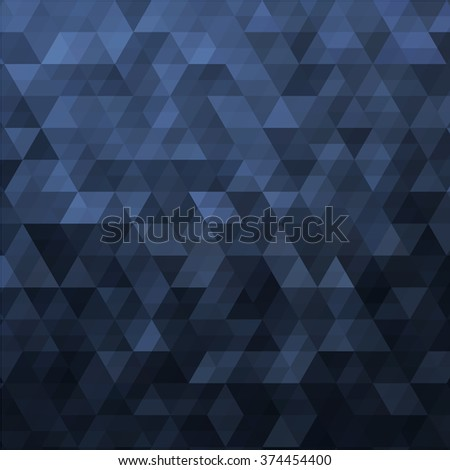 Black Abstract Geometric Triangle Background - Vector Illustration Abstract Polygon Vector Pattern  - stock vector