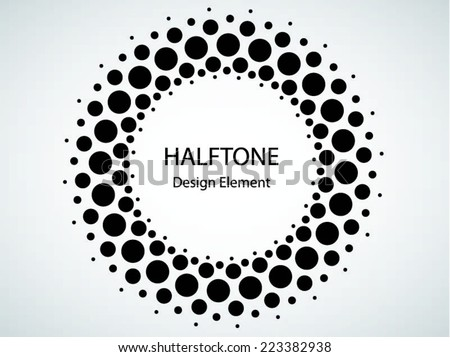 Black Abstract Halftone Logo Design Element, vector illustration - stock vector