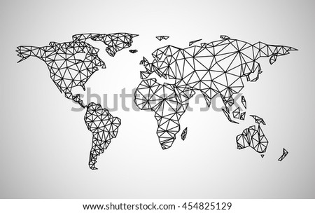 Black abstract world map vector paper vector de stock454825129 black abstract world map vector paper illustration gumiabroncs Choice Image