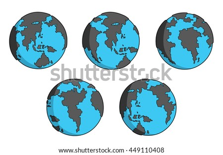 black and blue earth movement set