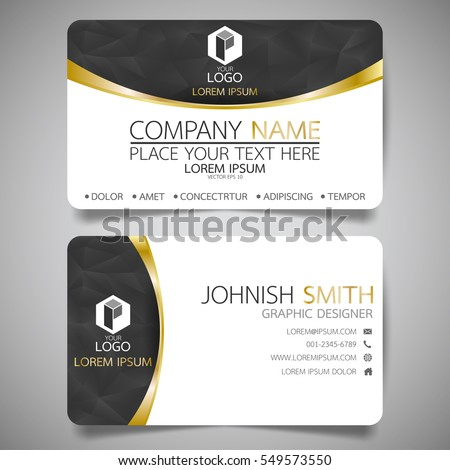 Black gold modern creative business card stock vector royalty free black and gold modern creative business card and name cardhorizontal simple clean template vector reheart Image collections