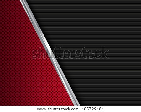 Black and red  metal backgrounds. Abstract vector illustration EPS10 - stock vector