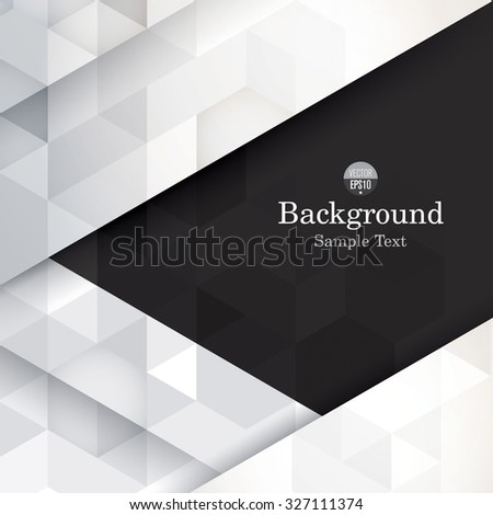 Black and white abstract background vector. Can be used in cover design, book design, website background, CD cover, advertising.