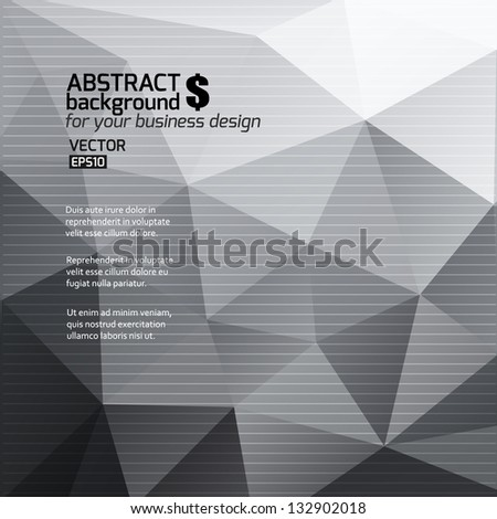 Black and white abstract background. Vector illustration. Can be used for business design. - stock vector