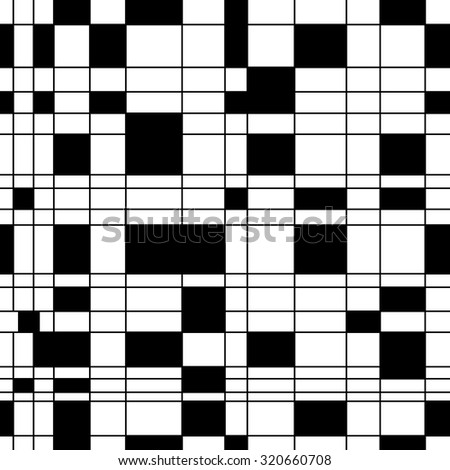 Black and white abstract background. Vector seamless pattern for creating card, web page background, wallpaper and textile.