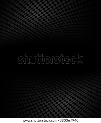 Black and white abstract halftone, perspective background - stock vector