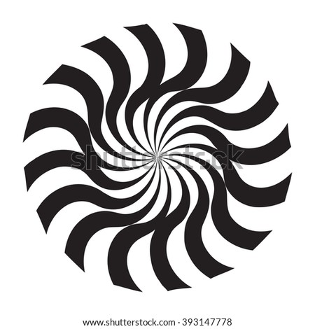 Black and White Abstract Psychedelic Art Background. Vector Illustration. EPS10 - stock vector