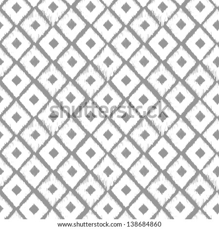 Black and white abstract seamless geometric pattern, seamless ethnic pattern. Grey background can be used for web, printing and others. - stock vector