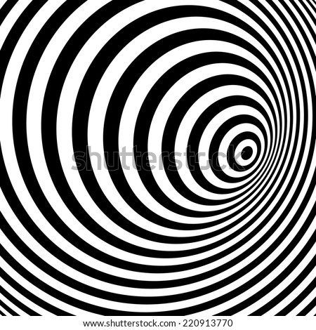 Black and white abstract striped background. Optical Art. Vector illustration.  - stock vector