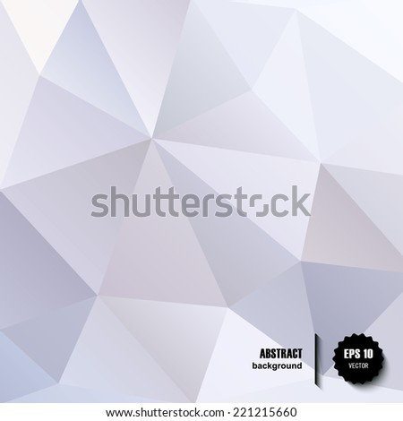 Black and White Abstract Triangles Vector Background - stock vector