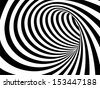 Black and white abstract vector tunnel - stock