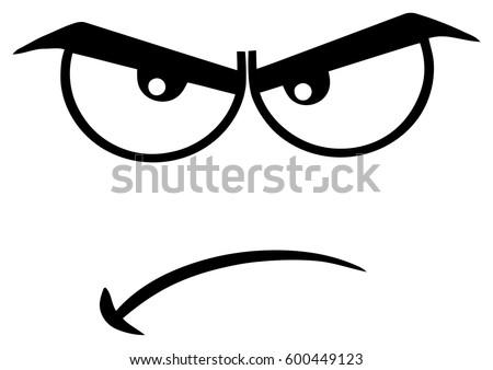 black white angry cartoon funny face stock vector royalty free rh shutterstock com cartoon angry faces pictures angry cartoon faces clip art