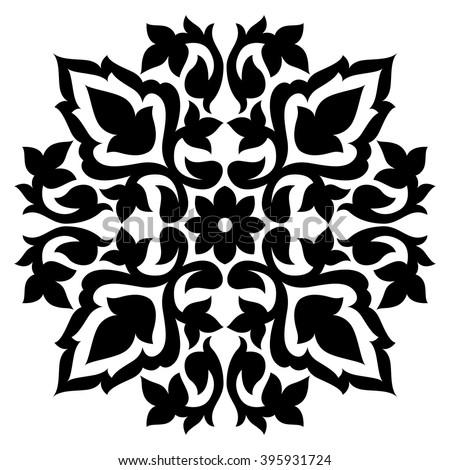 Turkish Design blue antique ottoman turkish design pattern stock vector 474643642