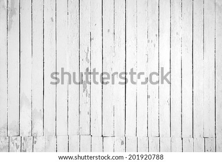 Black and white background of weathered painted wooden plank. Vector illustration - stock vector