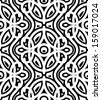 Black and white background, vector damask seamless pattern - stock