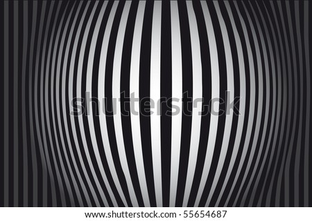 Black and White background vector Zebra - stock vector