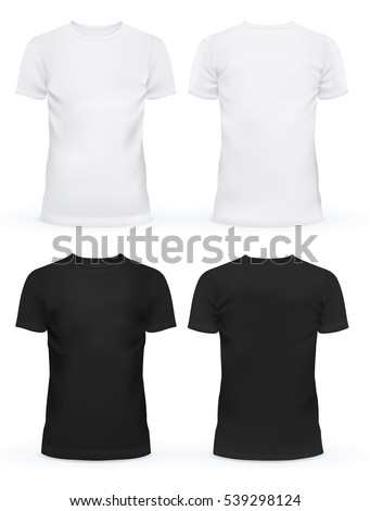 Black And White Blank T Shirt Clothing Design New Sport Unisex Textile Form With
