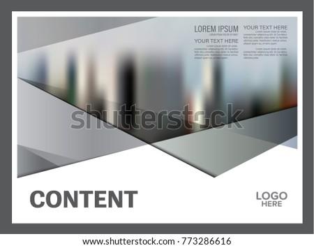 black white brochure layout design template stock vector 773286616