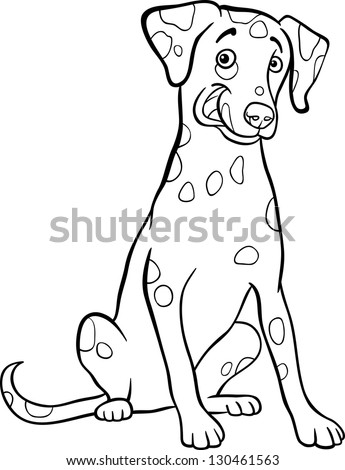 dalmatian fire dog coloring pages - dalmatian cartoon stock images royalty free images