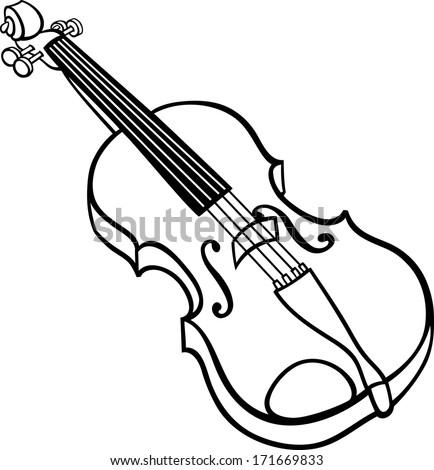 black white cartoon vector illustration violin stock vector rh shutterstock com musical instrument clip art jpeg musical instruments clip art images