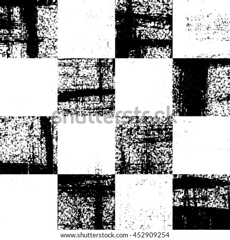 Black and white checkered grunge pattern