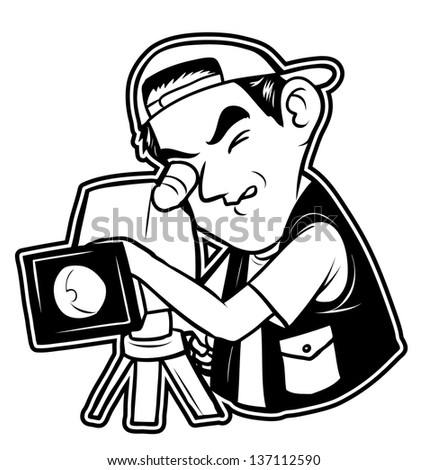 black and white clipart videography