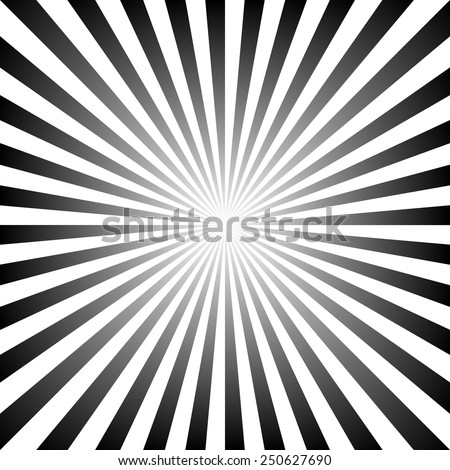 Black and white color burst background. Vector Eps10 - stock vector