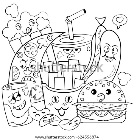 coloring pages of fast food - fast food coloring pages cute coloring pages