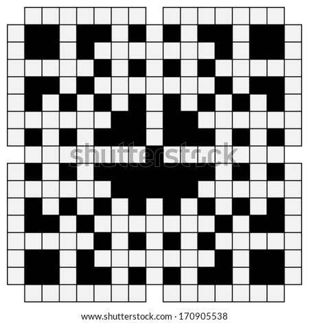 black and white crossword - stock vector