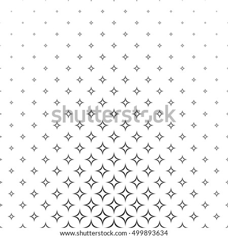 Black and white curved star pattern background