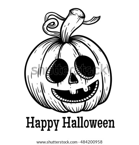 Stock photos royalty free images vectors shutterstock for Funny pumpkin drawings