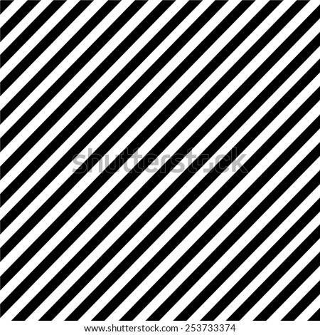 Black and white diagonal stripe pattern  - stock vector