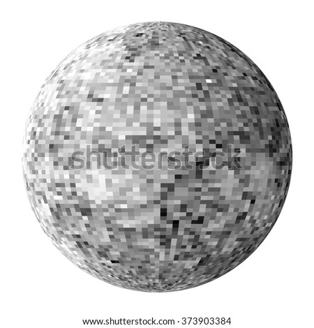 Black-and-white disco ball. Design element orb for party flyer. Vector graphic pattern - stock vector