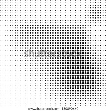 Black and white dotted background - stock vector