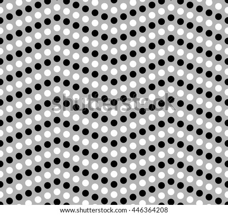Black and white dotted chevron pattern, geometric background, vector illustration - stock vector