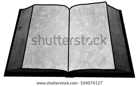 Black and White Empty Blank Book Image with Text Area