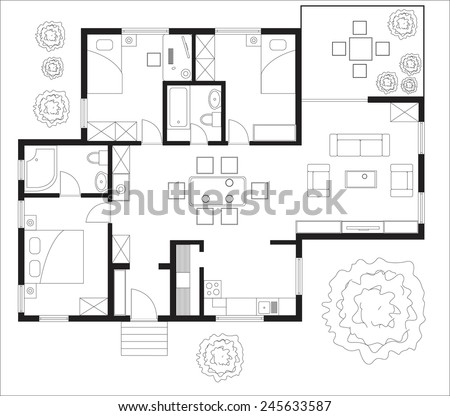 House Plans Stock Images, Royalty-Free Images & Vectors | Shutterstock