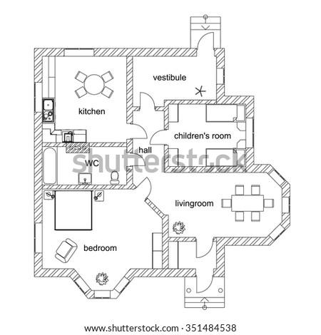 architectural floor plan symbols bathroom home drawing