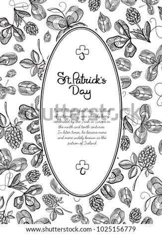 Black White Frame Doodle Postcard Many Stock Vector 1025156779 ...