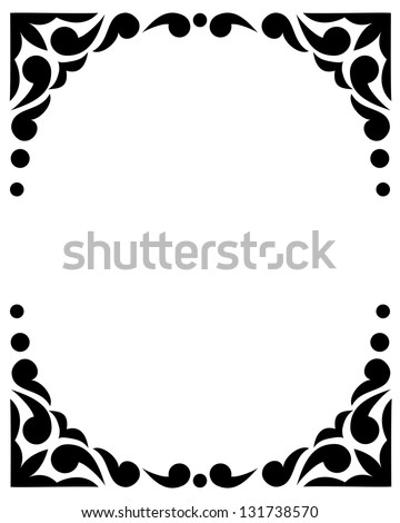 Black and white frame, tattoo pattern