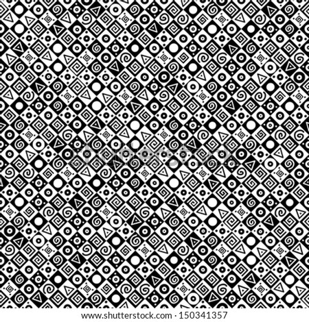 Black and white geometric background. Vector Illustration
